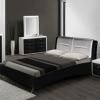 Кровати с обивкой из экокожи