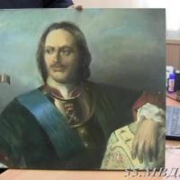 У омского художника похитили портрет Петра Первого